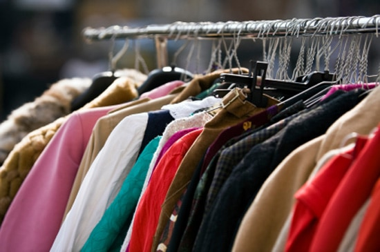 Thrift store that buys used clothing. Clothing stores online