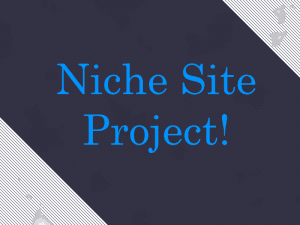 Niche Site Project 2 Voting Results!