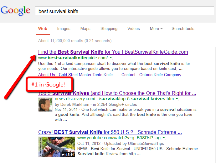 #1inGoogle