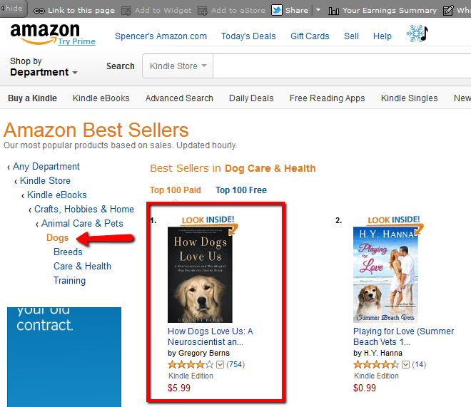How to self publish a book on amazon and make 100 a day i clicked on the dogs subcategory and can see the how dogs love us is the 1 best seller how is its amazon best seller rank fandeluxe Choice Image