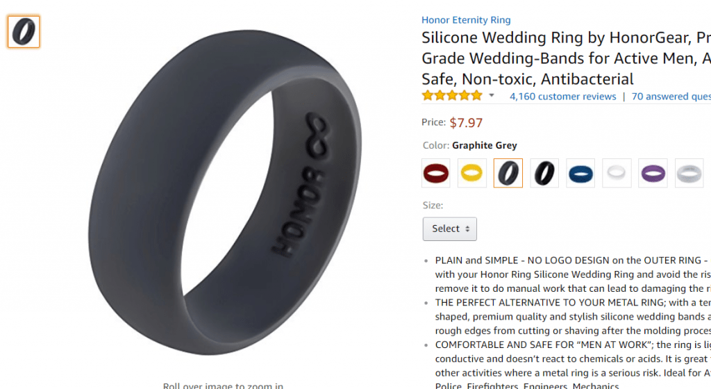 Amazon fba how i sold 4399 in my first 30 days on amazon well it would be illegal to manufacture and sell an honorgear branded silicone wedding ring however honorgear didnt invent the silicone wedding ring fandeluxe Choice Image