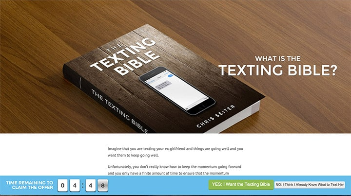 The Texting Bible Upsell