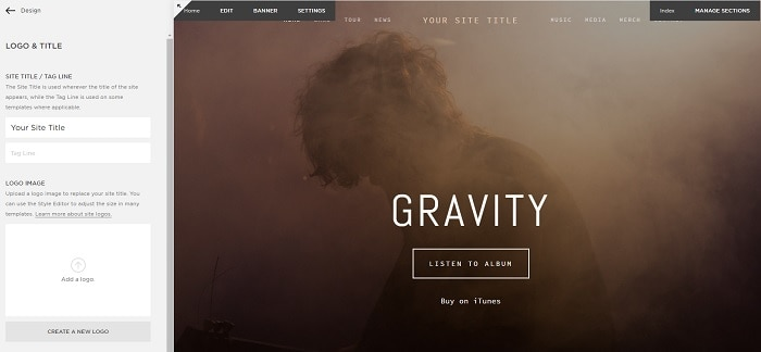 SquareSpace Homepage Editor