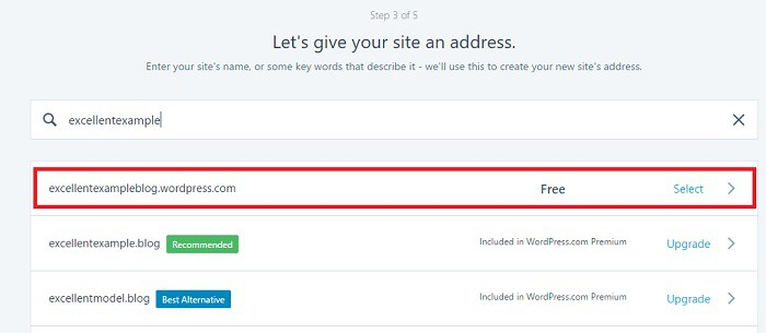 WordPress Hosted Site Example
