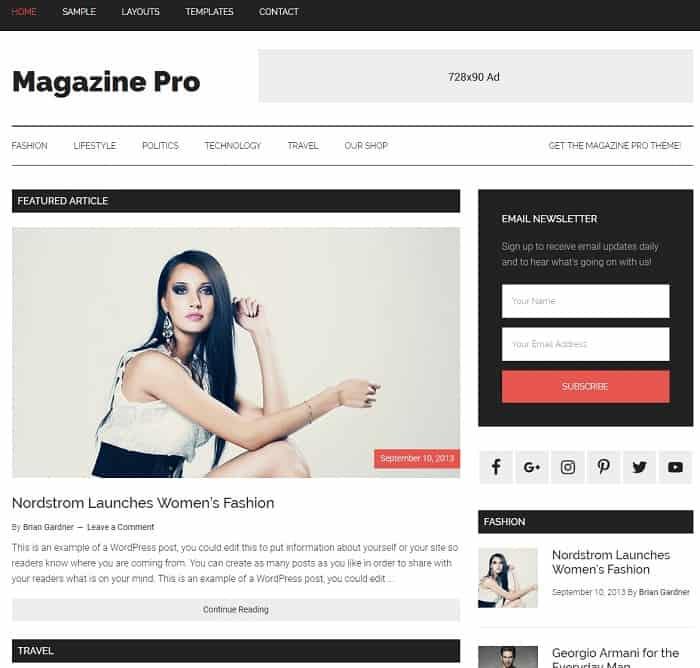 Magazine Pro Example