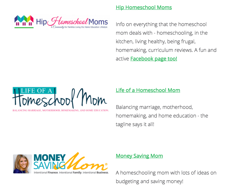 homeschooling website example