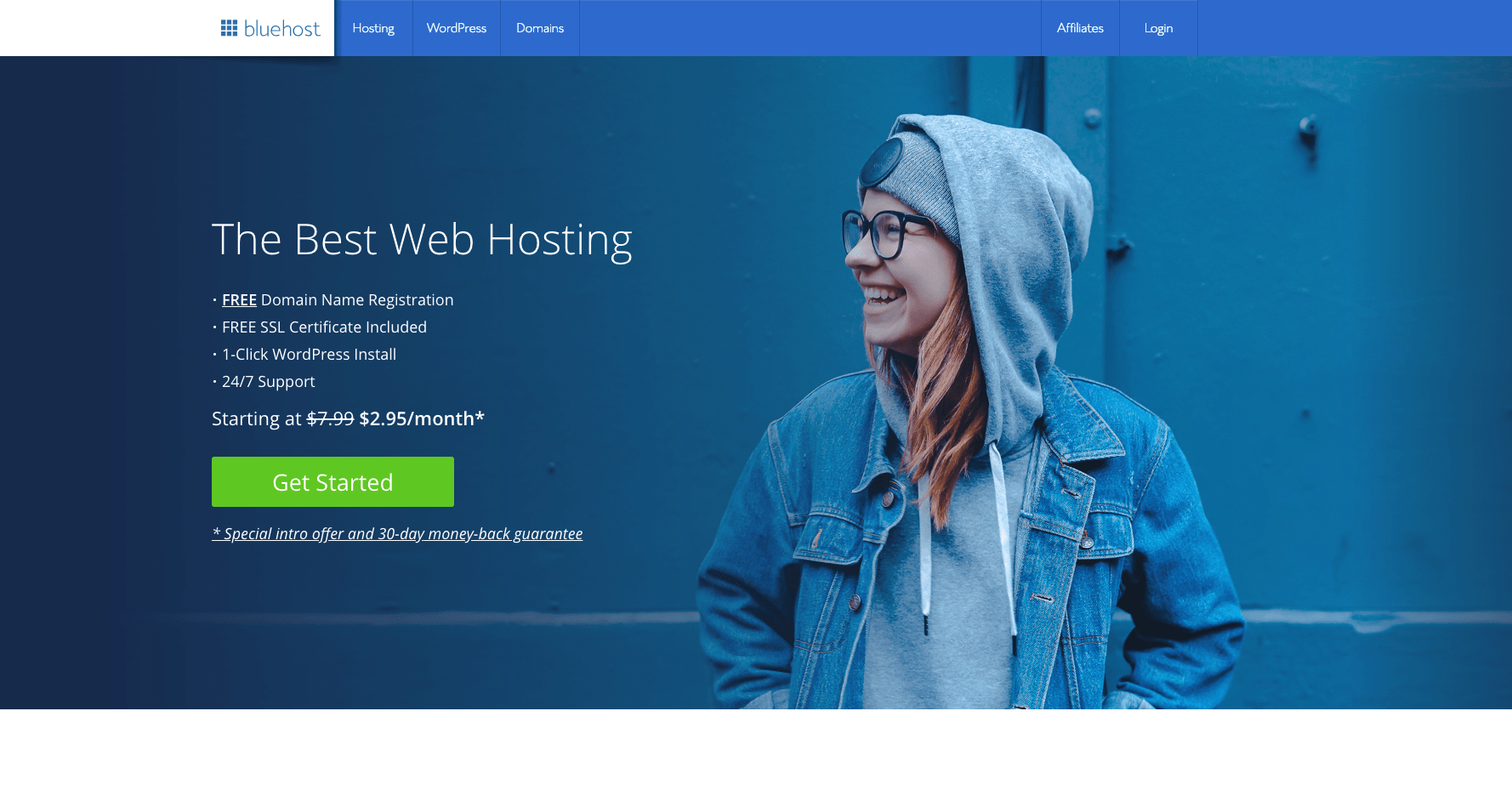 bluehost main page