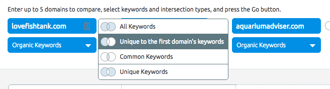 SEMRush Unique Keywords