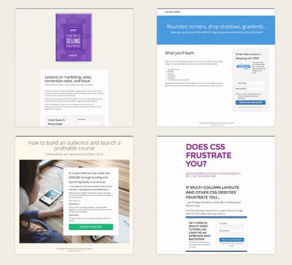 pagine di destinazione convertkit