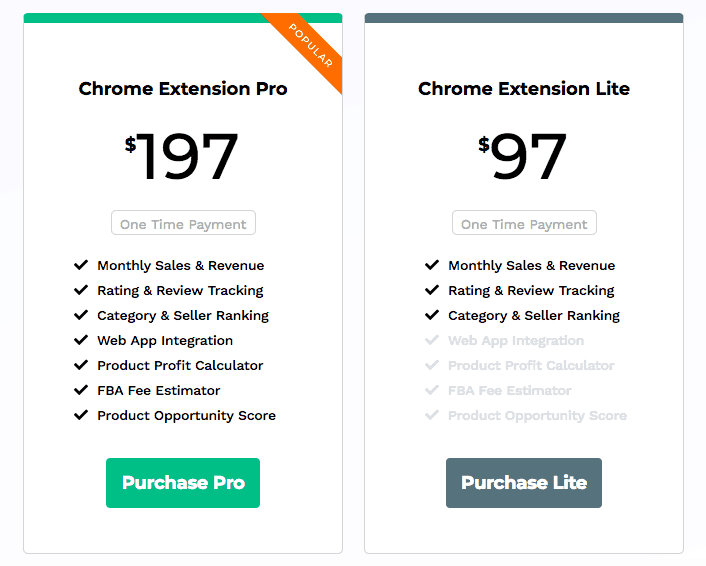 Jungle Scout Chrome Extension Pricing