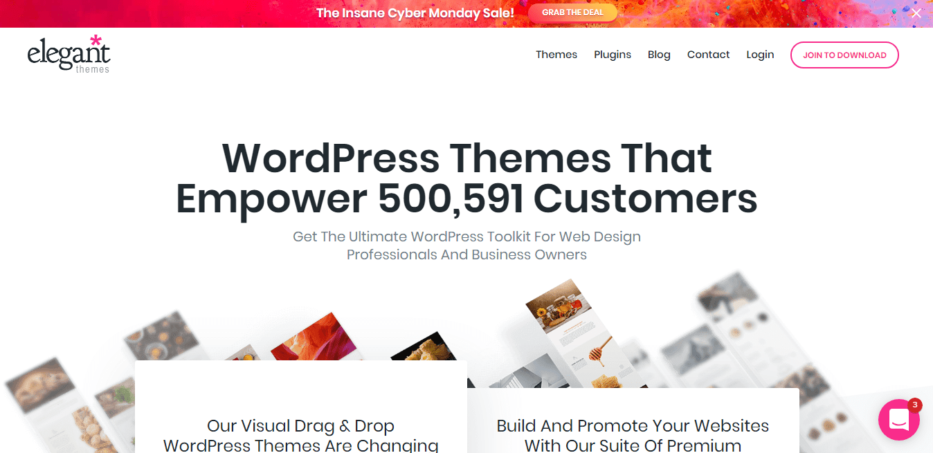 WordPress Themes  Elegant Themes Measurements Inches