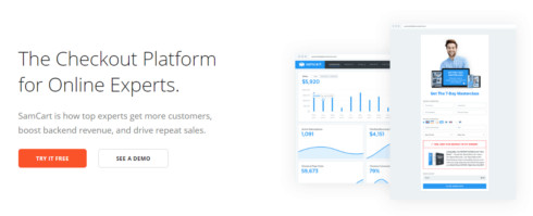 Landing Page Software Samcart Box Photo