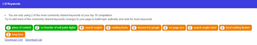 how to optimize - lsi keywords