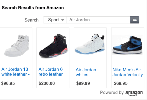 amazon search ad