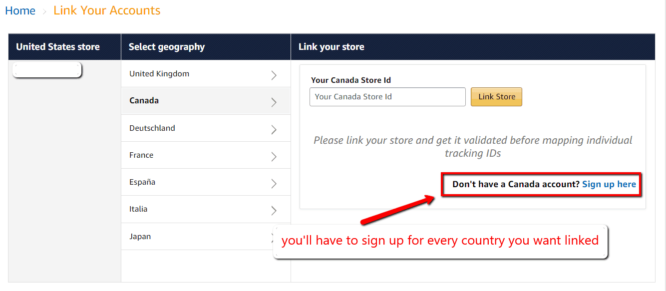 amazon onelink sign up