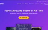 wp astra theme home page