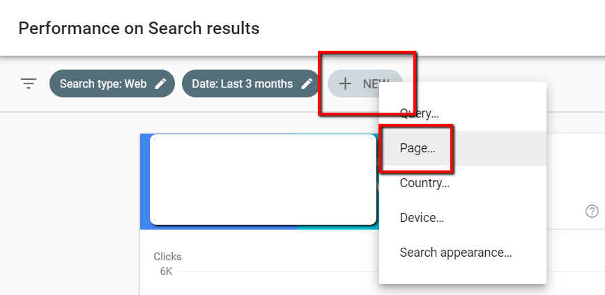 google search console page analysis