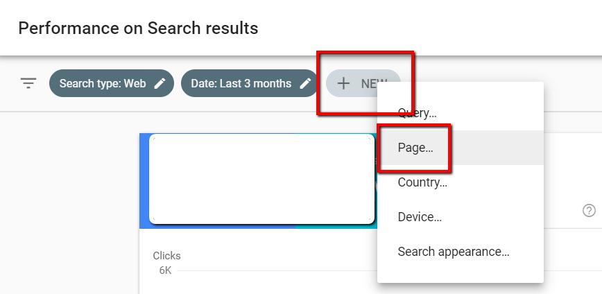 Analyse des pages de la console de recherche Google