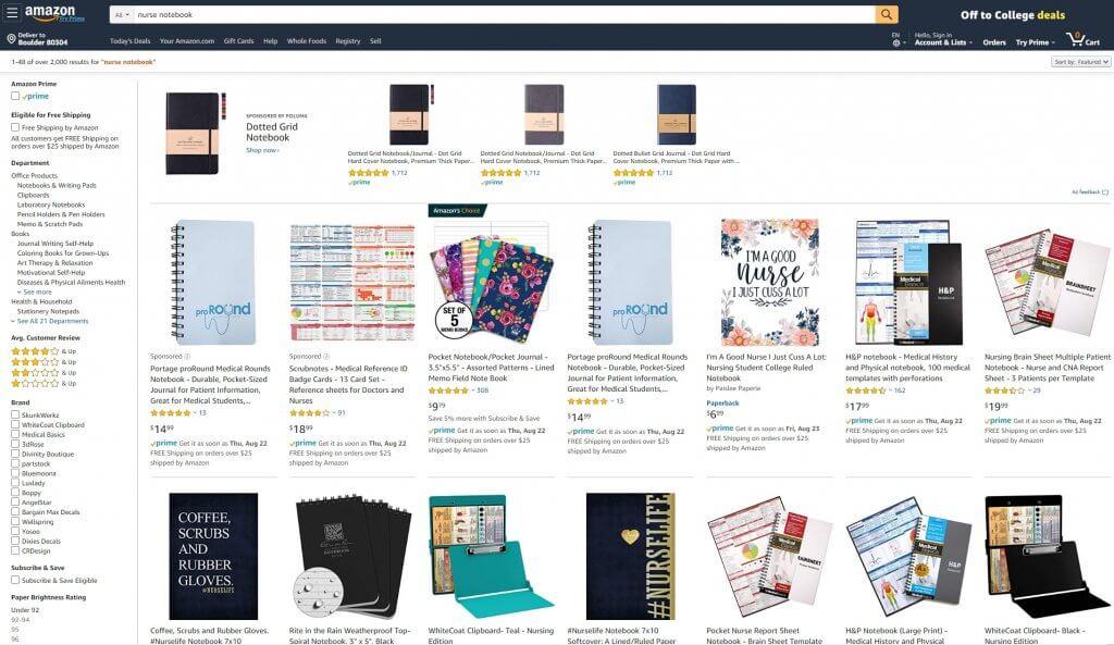 no content books examples on Amazon