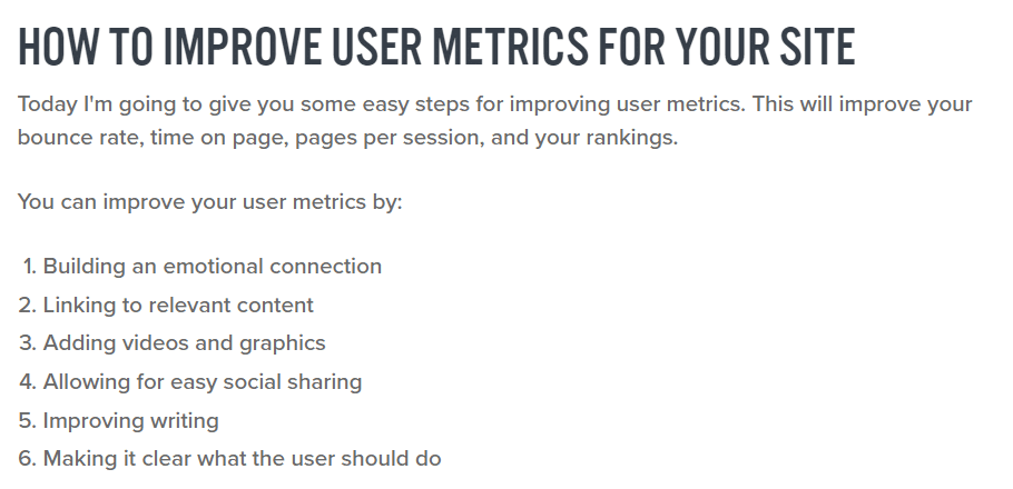 6 ways to improve user metrics