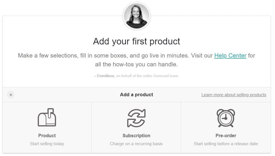 gumroad product upload screenshot