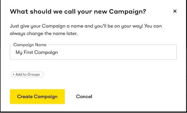 Creating a new email campaign in Drip