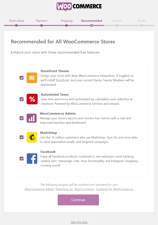 WooCommerce Setup Wizard - Step 4
