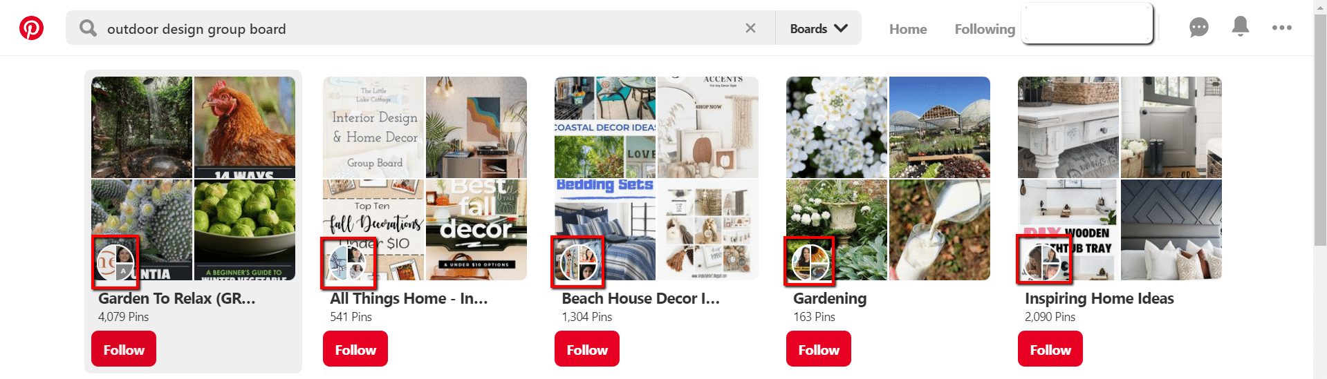 pinterest finding group boards