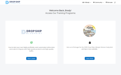 drop ship lifestyle home page