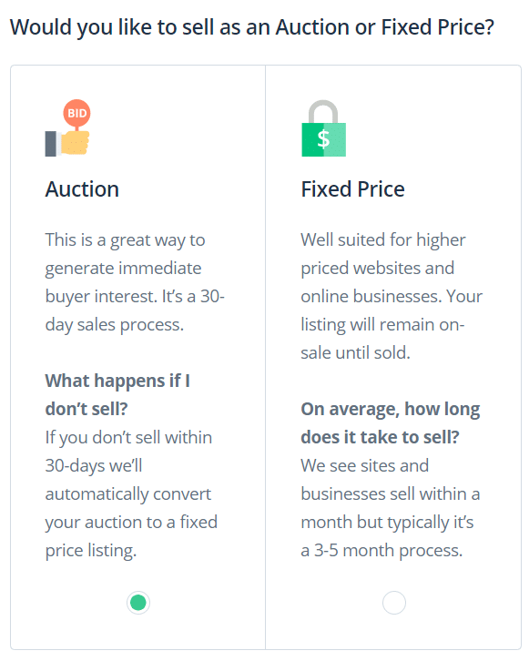 opzioni di vendita di flippa