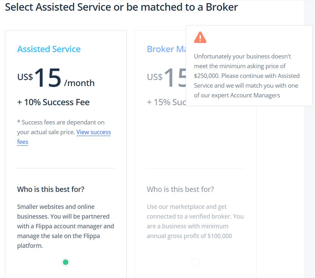 flippa seller services