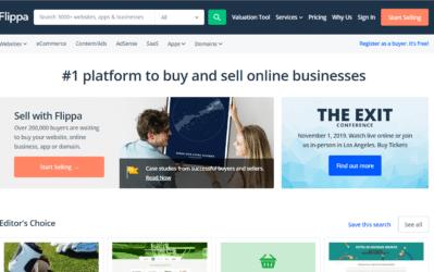 flippa home page