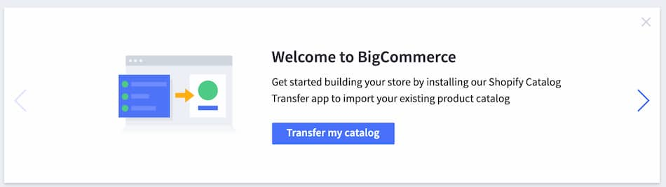 BigCommerce Transfer from Shopify