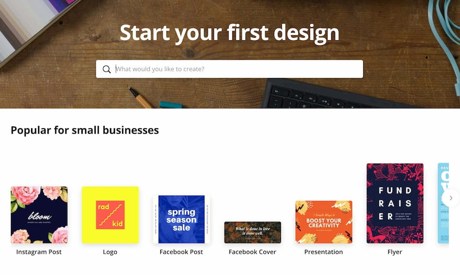 Canva Create Your First Design