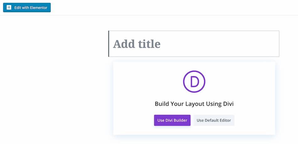 Elementor vs Divi Page Builder