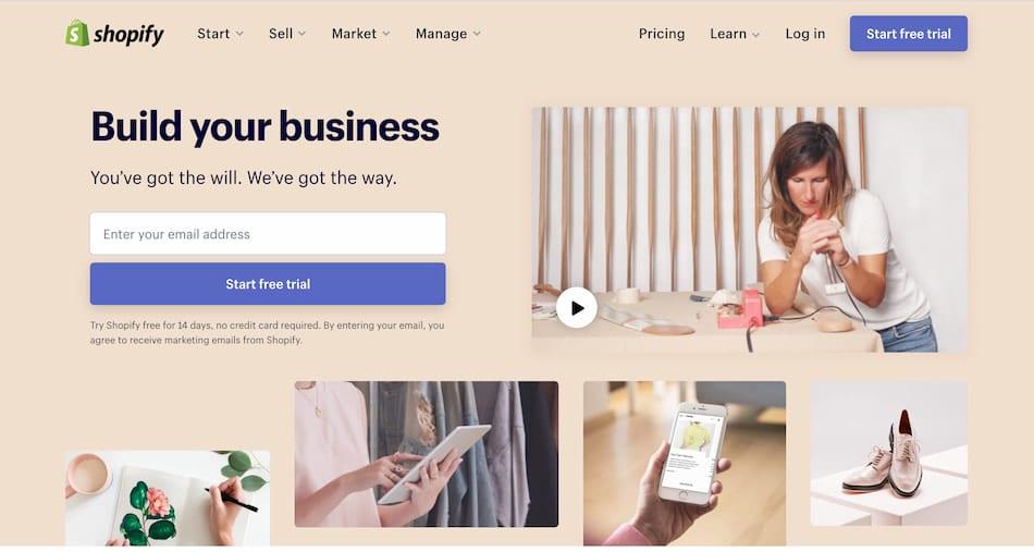 Startseite di Shopify