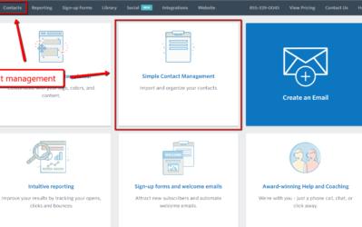 constant contact list management