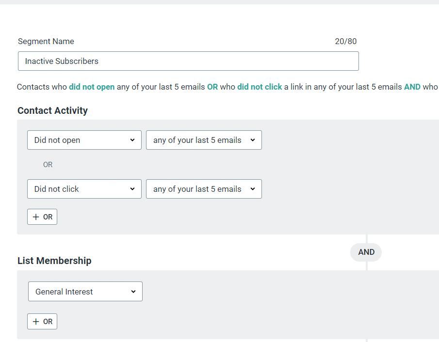 constant contact list segmentation