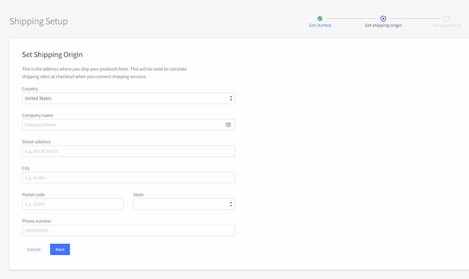 BigCommerce Shipping Setup