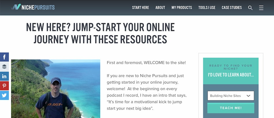 Website with blog for ecommerce