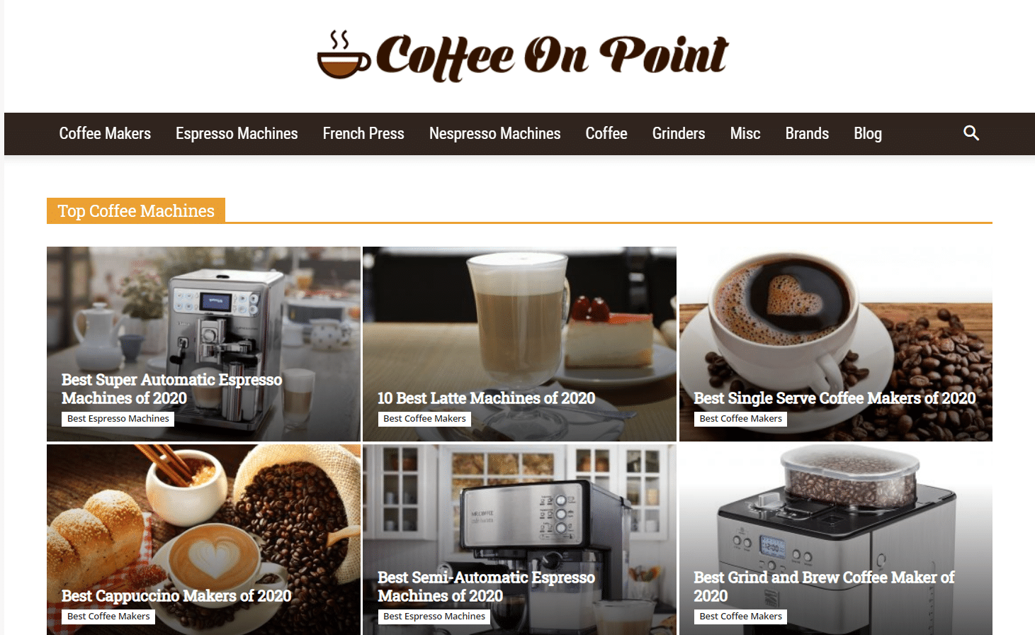 coffee on point home page