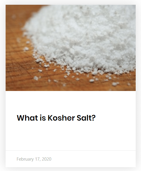post about kosher salt