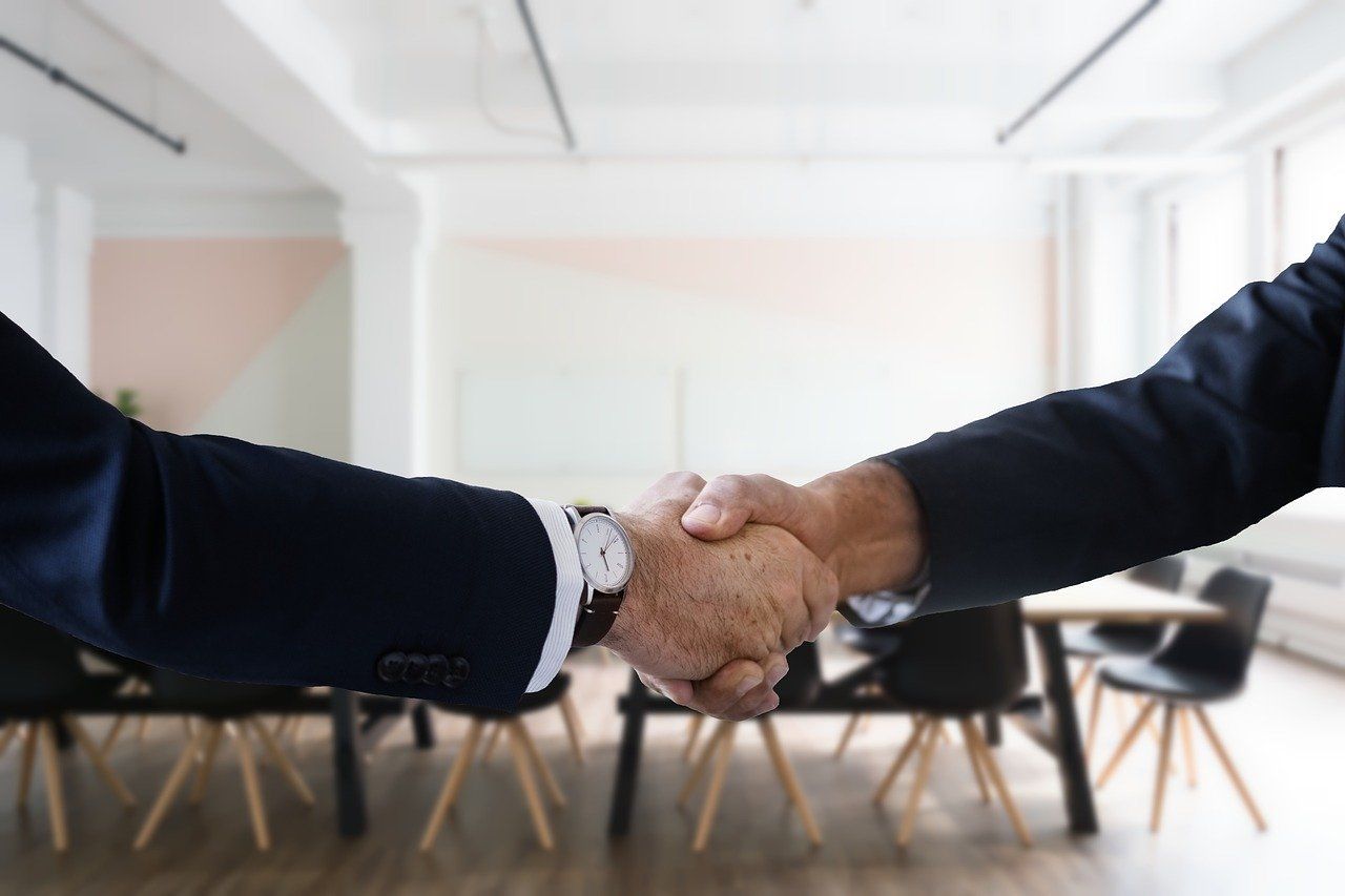 handshake hiring job