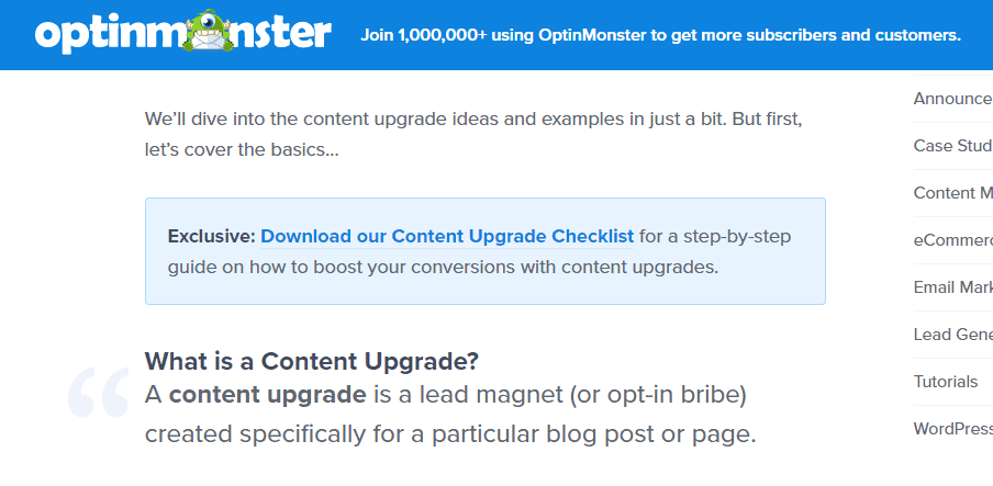 optinmonster content upgrade checklist_1
