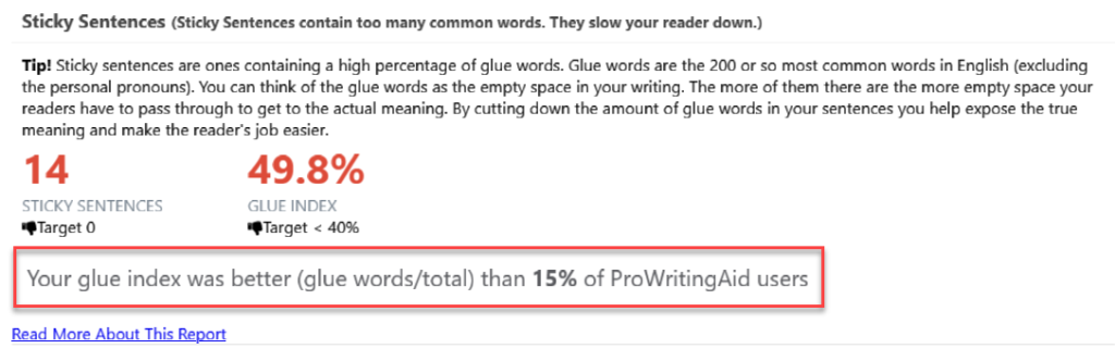 prowritingaid compares reports with other users