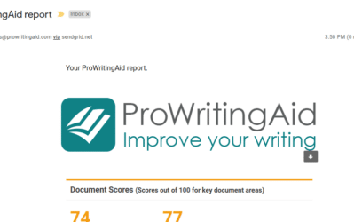 prowritingaid sent report via email