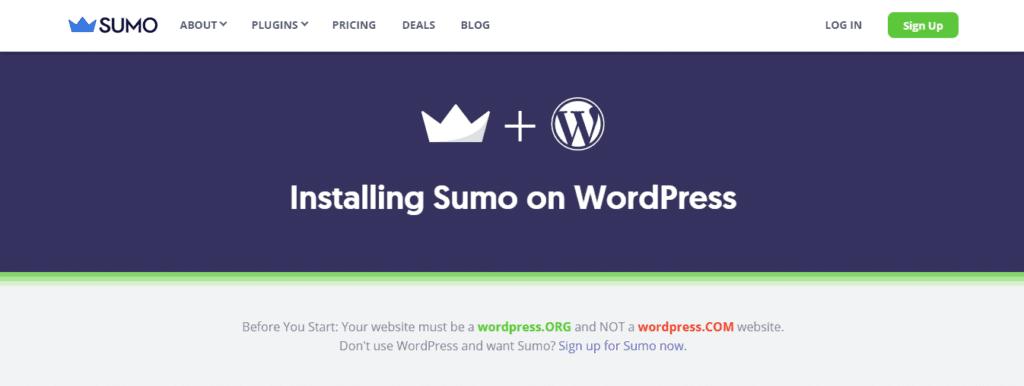 sumo wordpress