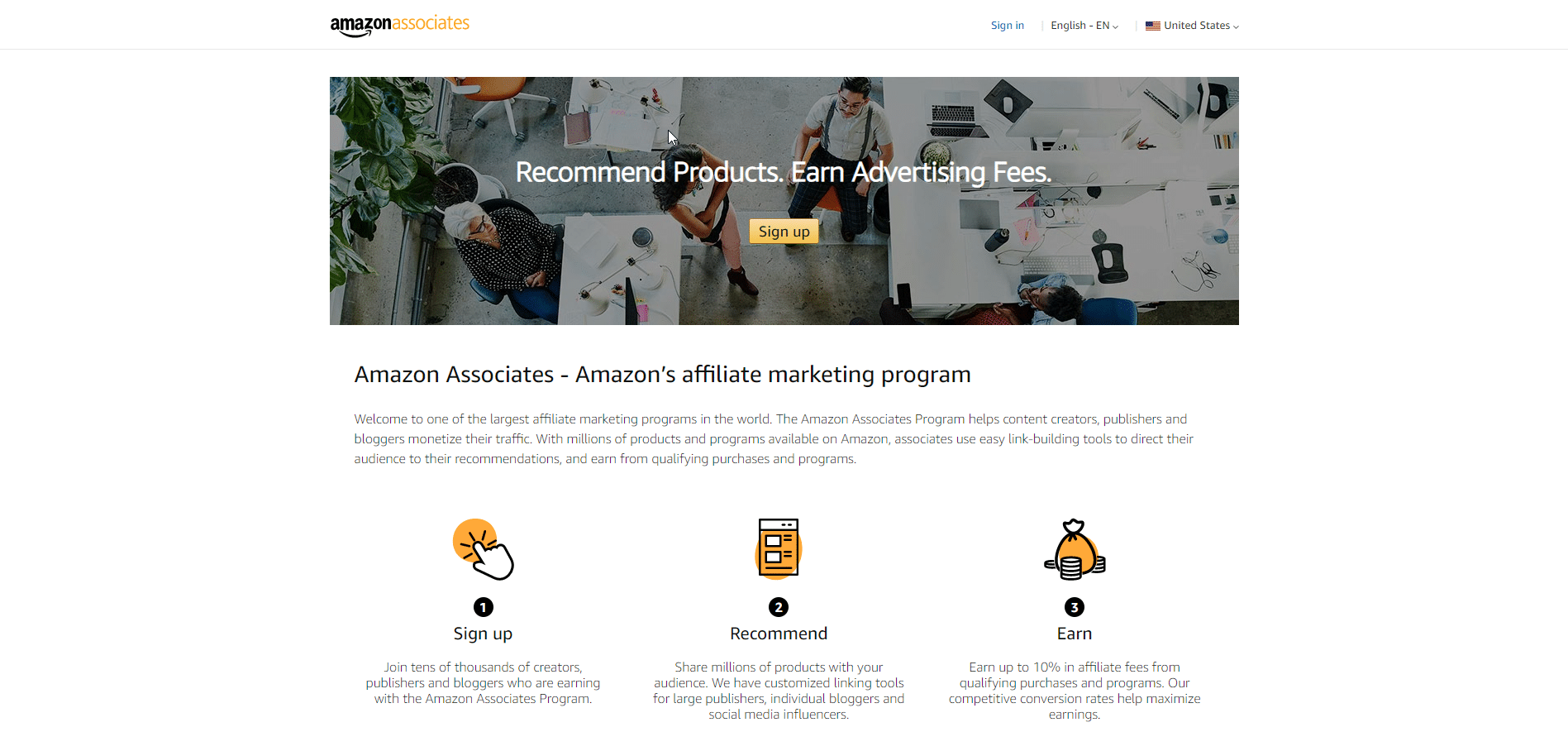 amazon associates affiliate for beginner homepage