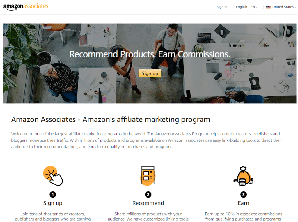 Amazon Associates for blogs