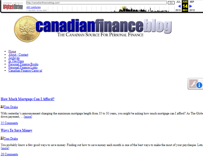 revive old content canadian finance blog